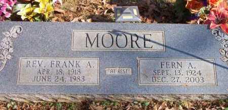 MOORE, FRANK ALLEN - Scott County, Arkansas | FRANK ALLEN MOORE - Arkansas Gravestone Photos