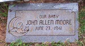 MOORE, JOHN ALLEN - Scott County, Arkansas | JOHN ALLEN MOORE - Arkansas Gravestone Photos