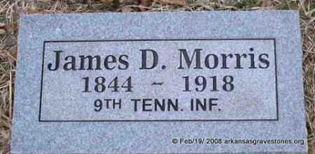 MORRIS  (VETERAN CSA), JAMES D - Scott County, Arkansas | JAMES D MORRIS  (VETERAN CSA) - Arkansas Gravestone Photos