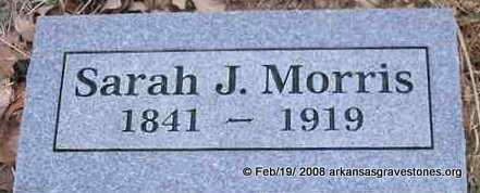 MORRIS, SARAH J - Scott County, Arkansas | SARAH J MORRIS - Arkansas Gravestone Photos