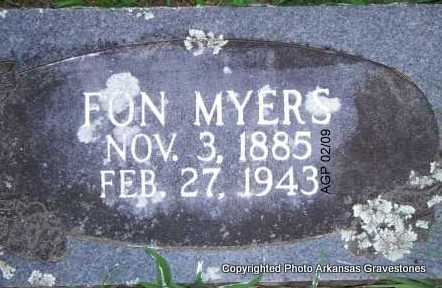 MYERS, FON - Scott County, Arkansas | FON MYERS - Arkansas Gravestone Photos