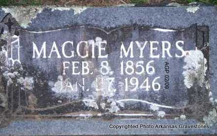MYERS, MAGGIE - Scott County, Arkansas | MAGGIE MYERS - Arkansas Gravestone Photos
