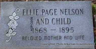 NELSON, ELLIE - Scott County, Arkansas | ELLIE NELSON - Arkansas Gravestone Photos