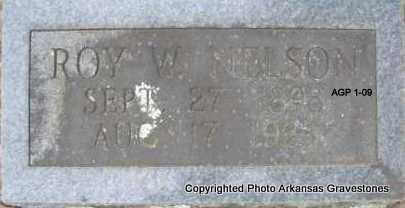 NELSON, ROY W - Scott County, Arkansas   ROY W NELSON - Arkansas Gravestone Photos
