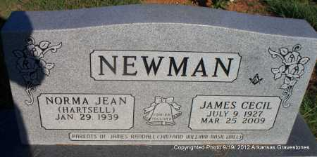 NEWMAN, JAMES CECIL - Scott County, Arkansas | JAMES CECIL NEWMAN - Arkansas Gravestone Photos