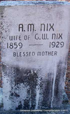 NIX, A M - Scott County, Arkansas | A M NIX - Arkansas Gravestone Photos