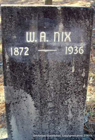 NIX, W A - Scott County, Arkansas | W A NIX - Arkansas Gravestone Photos
