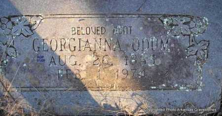 ODUM, GEORGIANNA - Scott County, Arkansas | GEORGIANNA ODUM - Arkansas Gravestone Photos