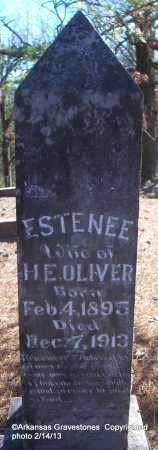 OLIVER, ESTENEE - Scott County, Arkansas | ESTENEE OLIVER - Arkansas Gravestone Photos