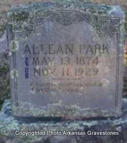 PARK, ALLEAN - Scott County, Arkansas | ALLEAN PARK - Arkansas Gravestone Photos