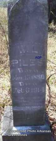 PILES, W  L - Scott County, Arkansas | W  L PILES - Arkansas Gravestone Photos