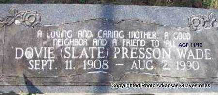PRESSON, DOVIE - Scott County, Arkansas | DOVIE PRESSON - Arkansas Gravestone Photos