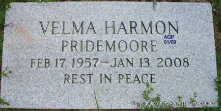 PRIDEMOORE, VELMA - Scott County, Arkansas | VELMA PRIDEMOORE - Arkansas Gravestone Photos