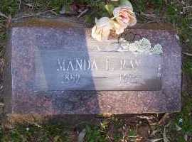 RAY, MANDA F - Scott County, Arkansas | MANDA F RAY - Arkansas Gravestone Photos