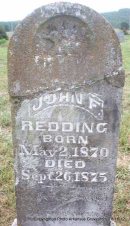 REDDING, JOHN F - Scott County, Arkansas | JOHN F REDDING - Arkansas Gravestone Photos