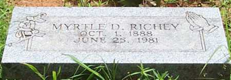 RICHEY, MYRTLE D - Scott County, Arkansas | MYRTLE D RICHEY - Arkansas Gravestone Photos