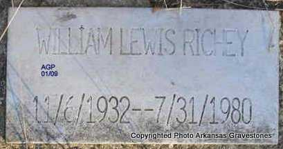 RICHEY, WILLIAM LEWIS - Scott County, Arkansas | WILLIAM LEWIS RICHEY - Arkansas Gravestone Photos