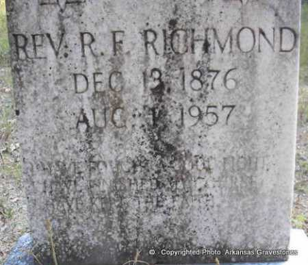 "RICHMOND, REV  R F  ""FRANK"" - Scott County, Arkansas 