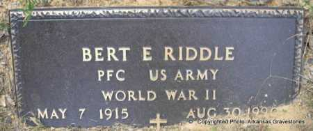 RIDDLE  (VETERAN WWII), BERT E - Scott County, Arkansas | BERT E RIDDLE  (VETERAN WWII) - Arkansas Gravestone Photos