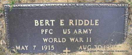 RIDDLE  (VETERAN WWII), BERT E - Scott County, Arkansas | BERT E RIDDLE  (VETERAN WWII) - Arkansas Gravestone Photos