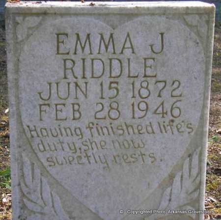 RIDDLE, EMMA J - Scott County, Arkansas | EMMA J RIDDLE - Arkansas Gravestone Photos