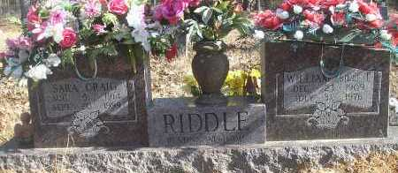RIDDLE, SARA - Scott County, Arkansas | SARA RIDDLE - Arkansas Gravestone Photos