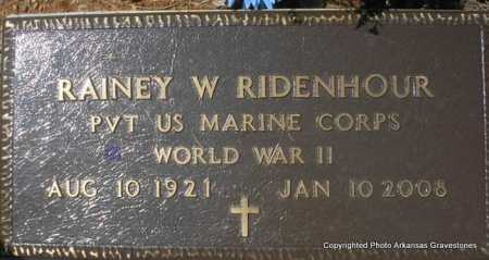 RIDENHOUR  (VETERAN WWII), RAINEY W - Scott County, Arkansas | RAINEY W RIDENHOUR  (VETERAN WWII) - Arkansas Gravestone Photos