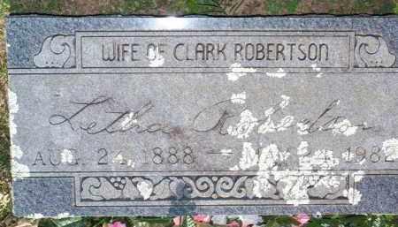 ROBERTSON, LETHA - Scott County, Arkansas   LETHA ROBERTSON - Arkansas Gravestone Photos