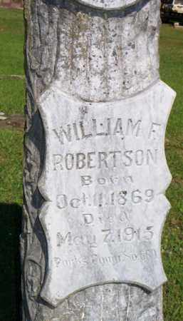 ROBERTSON, WILLIAM F  (CLOSEUP) - Scott County, Arkansas | WILLIAM F  (CLOSEUP) ROBERTSON - Arkansas Gravestone Photos