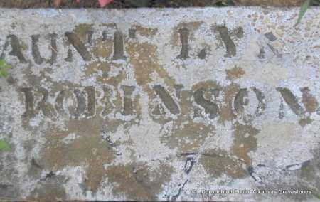 "ROBINSON, MALINDA JANE ""LYNN"" - Scott County, Arkansas 