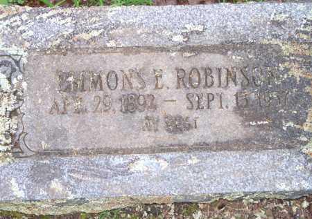 ROBINSON, EMMONS E - Scott County, Arkansas | EMMONS E ROBINSON - Arkansas Gravestone Photos