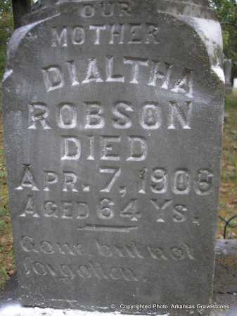 ROBSON, DIALTHA   ( CLOSEUP) - Scott County, Arkansas | DIALTHA   ( CLOSEUP) ROBSON - Arkansas Gravestone Photos