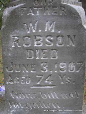 ROBSON, W M(CLOSEUP) - Scott County, Arkansas | W M(CLOSEUP) ROBSON - Arkansas Gravestone Photos