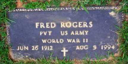 ROGERS  (VETERAN WWII), FRED - Scott County, Arkansas | FRED ROGERS  (VETERAN WWII) - Arkansas Gravestone Photos