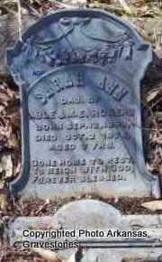 ROGERS, SARAH ANN - Scott County, Arkansas | SARAH ANN ROGERS - Arkansas Gravestone Photos