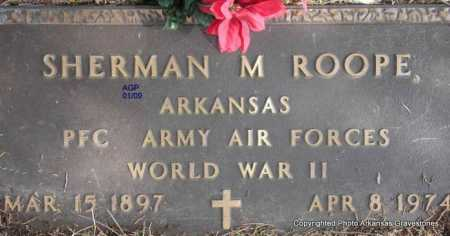 ROOPE  (VETERAN WWII), SHERMAN M - Scott County, Arkansas | SHERMAN M ROOPE  (VETERAN WWII) - Arkansas Gravestone Photos