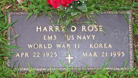 ROSE  (VETERAN 2 WARS), HARRY D - Scott County, Arkansas | HARRY D ROSE  (VETERAN 2 WARS) - Arkansas Gravestone Photos