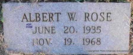ROSE, ALBERT W - Scott County, Arkansas | ALBERT W ROSE - Arkansas Gravestone Photos