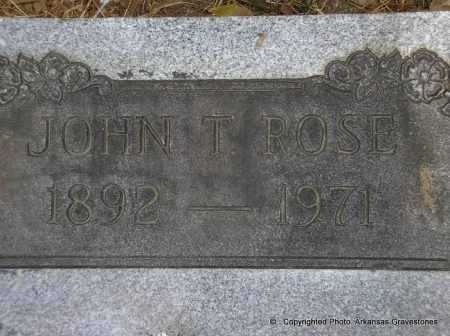 ROSE, JOHN T - Scott County, Arkansas | JOHN T ROSE - Arkansas Gravestone Photos