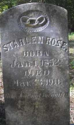 ROSE, STARLEN - Scott County, Arkansas | STARLEN ROSE - Arkansas Gravestone Photos