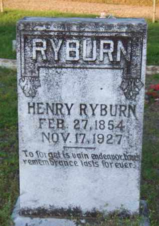 RYBURN, HENRY - Scott County, Arkansas | HENRY RYBURN - Arkansas Gravestone Photos