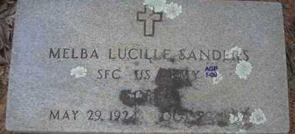 SANDERS  (VETERAN KOR), MELBA LUCILLE - Scott County, Arkansas | MELBA LUCILLE SANDERS  (VETERAN KOR) - Arkansas Gravestone Photos