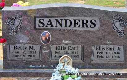 SANDERS, JR, ELLIS EARL - Scott County, Arkansas | ELLIS EARL SANDERS, JR - Arkansas Gravestone Photos