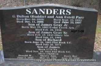 SANDERS, ANN ESTELL - Scott County, Arkansas | ANN ESTELL SANDERS - Arkansas Gravestone Photos