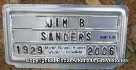 SANDERS, JIM B - Scott County, Arkansas | JIM B SANDERS - Arkansas Gravestone Photos