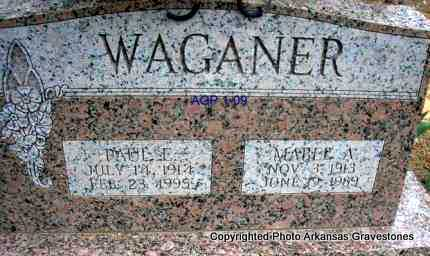 WAGANER, MABEL A - Scott County, Arkansas | MABEL A WAGANER - Arkansas Gravestone Photos