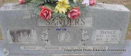 SANDERS, TROYCE - Scott County, Arkansas | TROYCE SANDERS - Arkansas Gravestone Photos