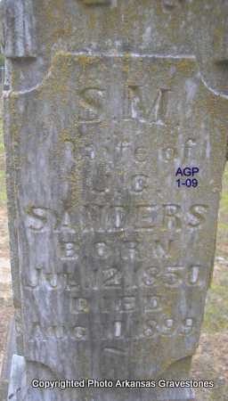 SANDERS, S  M - Scott County, Arkansas | S  M SANDERS - Arkansas Gravestone Photos