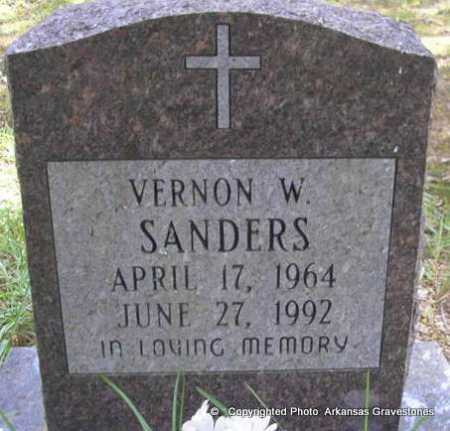 SANDERS, VERNON WINSTON - Scott County, Arkansas | VERNON WINSTON SANDERS - Arkansas Gravestone Photos