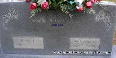 SANDERS, WINTON L - Scott County, Arkansas | WINTON L SANDERS - Arkansas Gravestone Photos